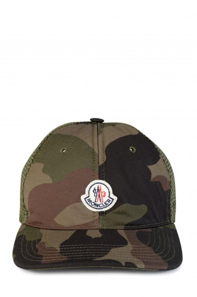 Moncler Camo Baseball Cap Khaki 29cf8238f13