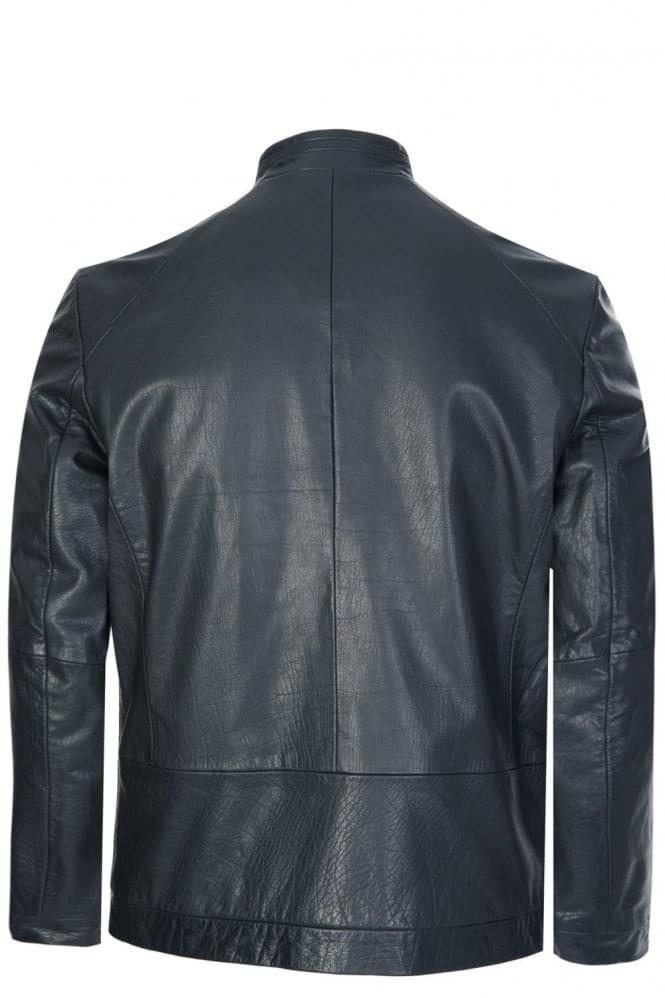 8341dad23814 Hugo Boss  Lemy  Leather Jacket Black